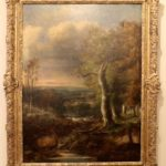 English Oil on Canvas Landscape Painting