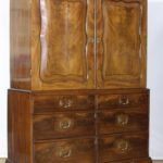 18th Century English Mahogany Linen Press