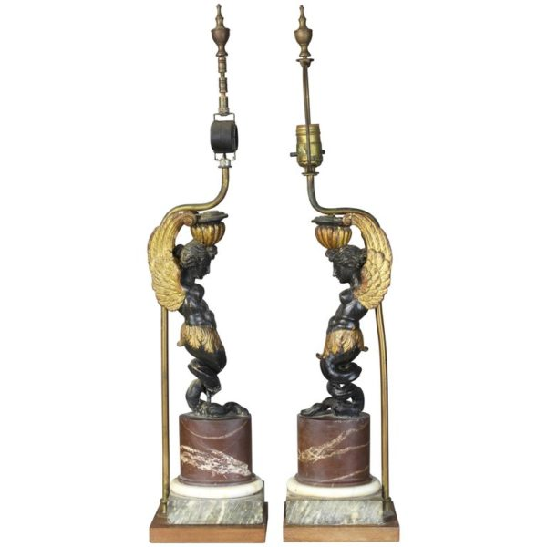 Pair of Early 19th Century French Architectural Fragment Lamps