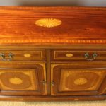Late 19th Century English Heavily Inlaid Credenza