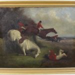 Pair of Mid-19th Century English Oil on Canvas Sporting Paintings