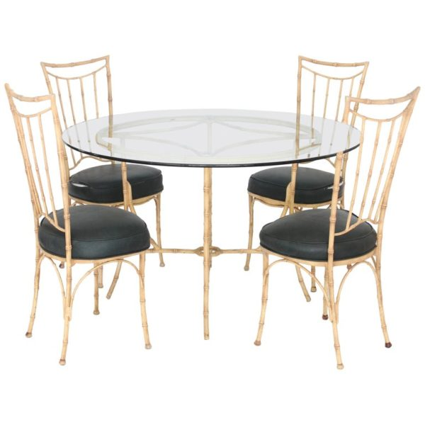 Faux Bamboo Table and Chairs