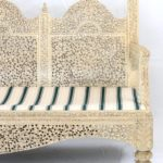 19th Century Carved Indian Settee