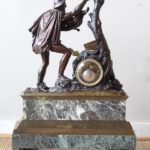 Monumental French Bronze Figural Clock