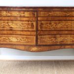 18th Century Dutch Serpentine Front Marquetry Commode