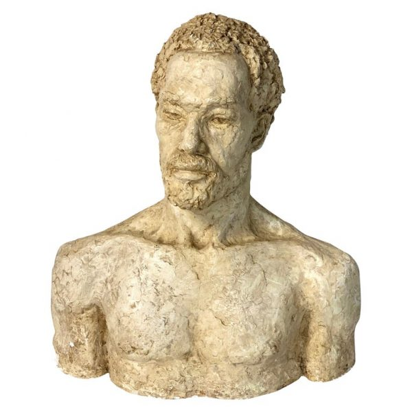 Mid-20th Century Plaster Bust