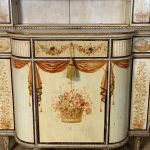 Mid-19th Century English Paint Decorated Step-Back Cupboard