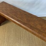 Karl Springer Style Woven Reed Covered Sofa Table