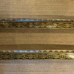 Pair of English Regency Pen Work Decorated Pelmets
