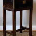 Brass Bound Writing Box on Stand