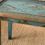 Small Jansen Style Chinoiserie Decorated Side or Occasional Table