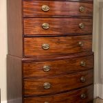 Late 18th Century English Mahogany Bowfront Chest on Chest