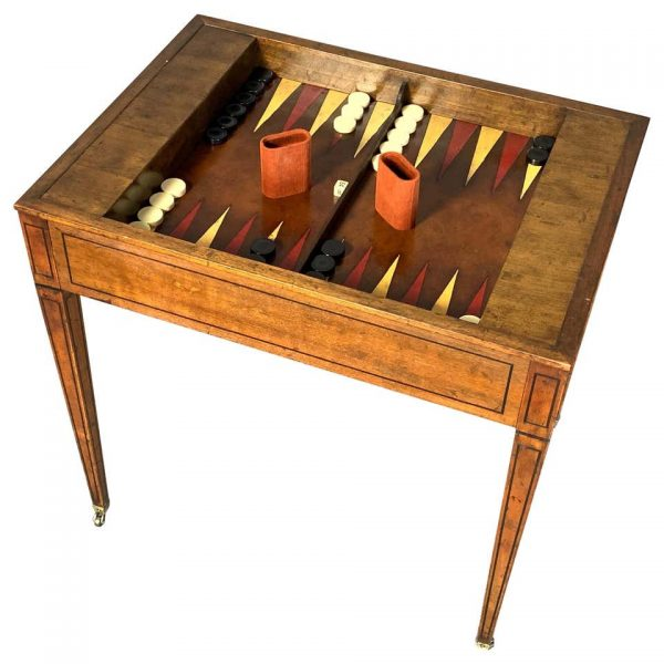 Mid-20th Century Tric-Trac or Backgammon Table by Baker