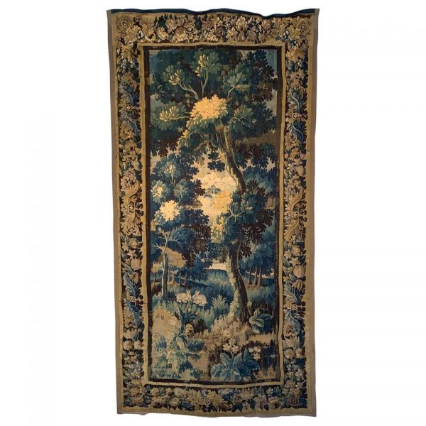 Early 18th Century Flemish Verdure Landscape Tapestry