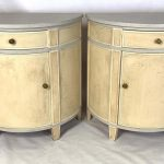 Pair of Custom Made Demilune Bedside Tables