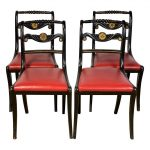 Set of Four English Regency Dining Chairs