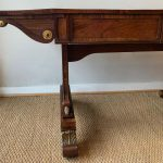 English William IV Period Carved and Gilded Sofa Table