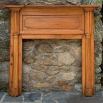 Early 19th Century Pine Fireplace Mantel