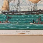 Large Watercolor Painting of a Nantucket Whaling Ship