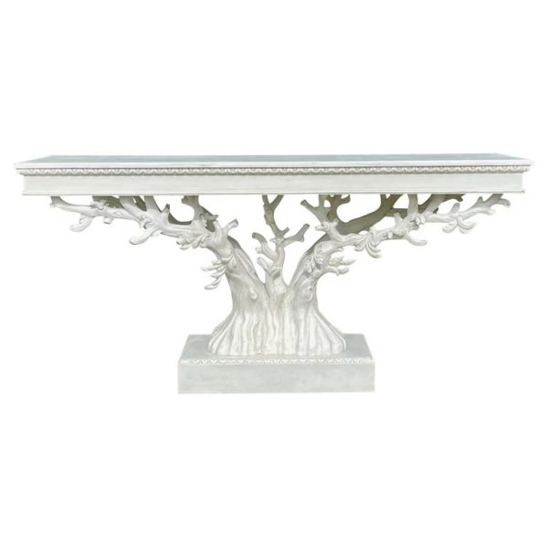 Painted Tree Form Console Table