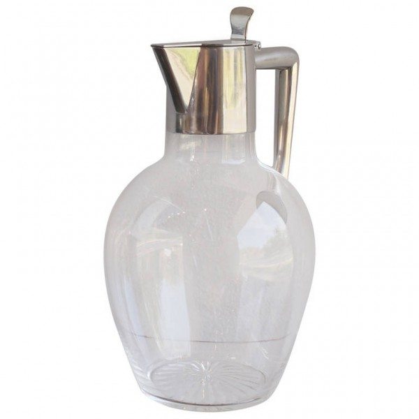 Crystal and Silver Claret Jug