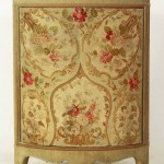 19th Century French Tapestry Bowfront Corner Cabinet