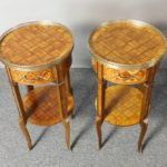 Pair of French Marquetry Side Tables