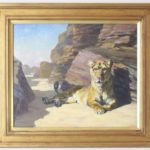Oil on Canvas Painting of a Lioness