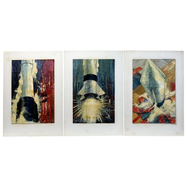 Three Oil Paintings from the American Rocket Society