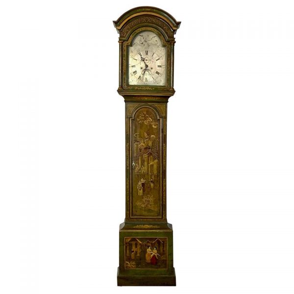 George III Chinoiserie Decorated Long Case Clock
