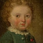 Late 18th Century Oil on Canvas Miniature Portrait of a Boy