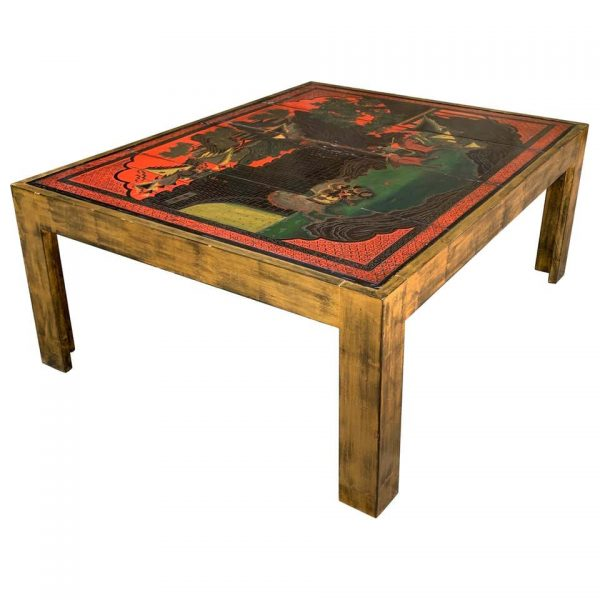 Contemporary Chinese Inspired Cocktail Table