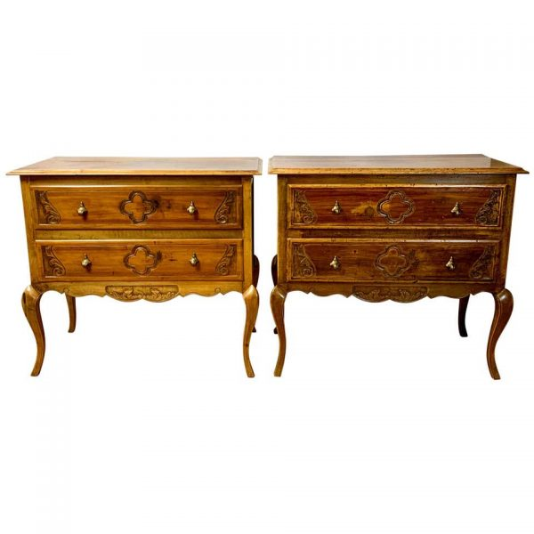 Pair of Italian Two-Drawer Chests or Bedside Tables