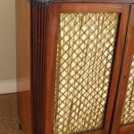 Small English Egyptian Revival Bookcase Cabinet