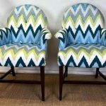 Set of Four Upholstered Armchairs