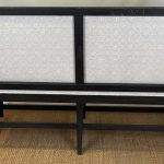 English Painted and Upholstered Bench