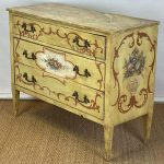 Pair of 19th Century Italian Paint Decorated Commodes or Chests